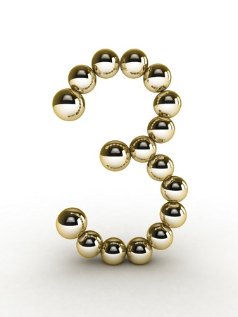 3d Number of gold beads. Stock Photo - 11026648