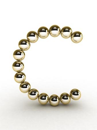 free photos: 3d alphabet of gold beads.