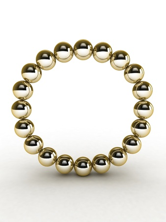 3d alphabet of gold beads. Stock Photo - 11026658