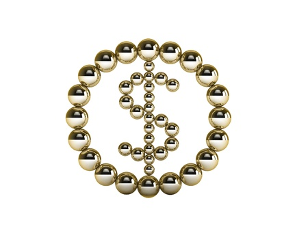 3d golden dollar sign photo
