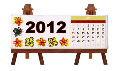 2012 desk calendar Stock Photo - 11722886
