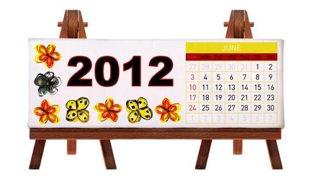 2012 desk calendar photo