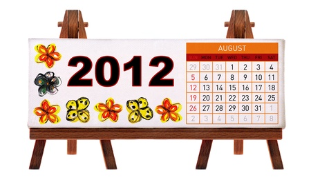 2012 desk calendar Stock Photo - 11722896