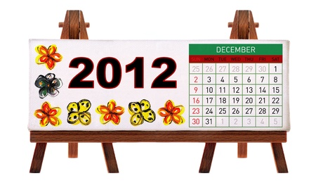 2012 desk calendar Stock Photo - 11722887