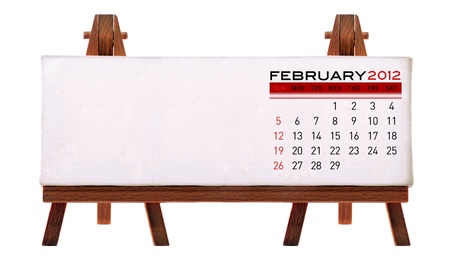 2012 desk calendar (picture and to add notes. Isolated white background.) Stock Photo - 11722872