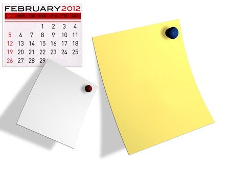 2012 calendar  (Write a note of the calendar) isolated white background. Stock Photo - 11722900
