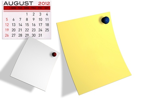 2012 calendar  (Write a note of the calendar) isolated white background. Stock Photo - 11722904