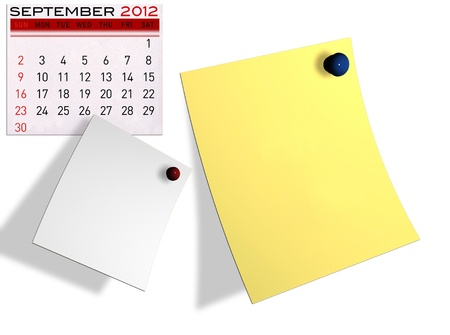 2012 calendar  (Write a note of the calendar) isolated white background. Stock Photo - 11722906