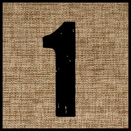 teclado numerico: número uno en la tela.