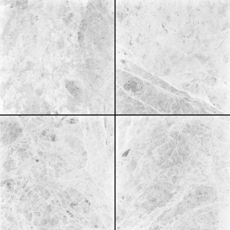 floor tiles: Four different white marble texture   high res    Stock Photo