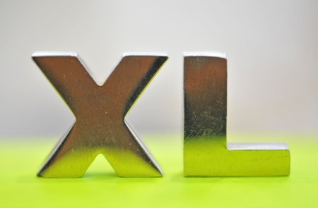 xl: xl sign,  metal