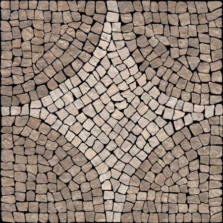 Brown marble-stone mosaic texture   High res   Stock Photo