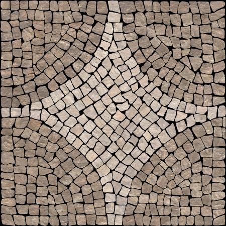 Keramik: Brown Marmor-Stein-Mosaik Textur mit hoher Aufl�sung Lizenzfreie Bilder