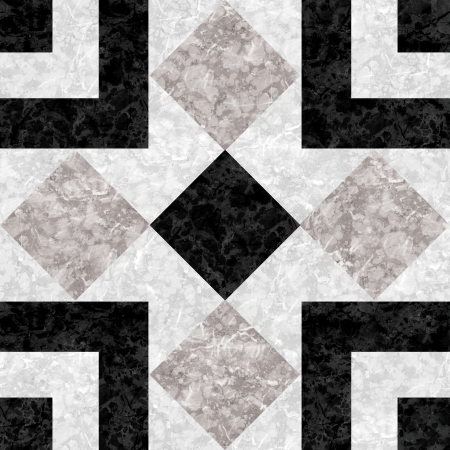 mosaic floor: Black white marble-stone mosaic texture   High res   Stock Photo