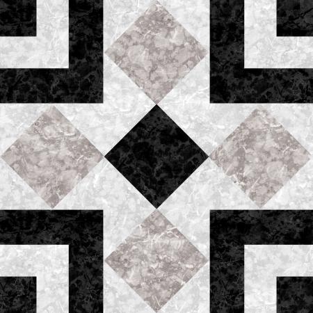 Keramik: Schwarz wei�e Marmor-Stein-Mosaik Textur mit hoher Aufl�sung
