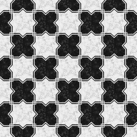 tile grout: Black white marble-stone mosaic texture   High res   Stock Photo