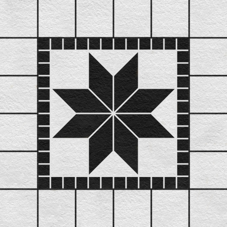 tile grout: High-quality Black-white mosaic pattern decor background