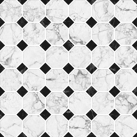 floor tiles: White and black mosaic marble texture  High Res   Stock Photo