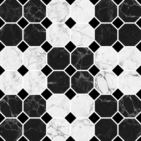mosaic tiles: White and black mosaic marble texture  High Res   Stock Photo