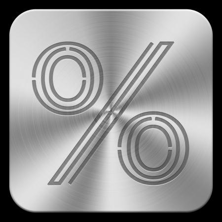 procent: 3d metal button procent mark  high-res
