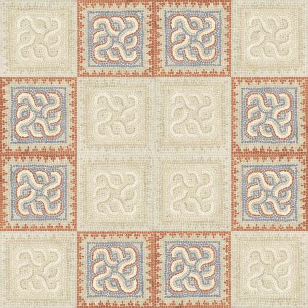 Brown marbre pierre texture mosaïque. (Haute résolution.)