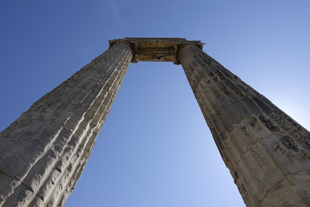 View of Temple of Apollo in antique city of Didyma  Turkey