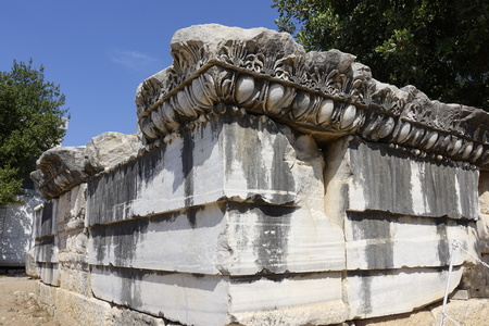 gods: View of Temple of Apollo in antique city of Didyma  Turkey