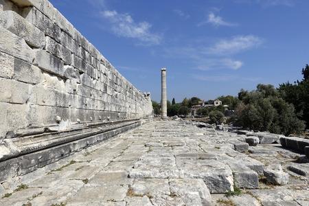 corinthian column: View of Temple of Apollo in antique city of Didyma