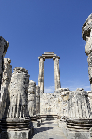 adoration: View of Temple of Apollo in antique city of Didyma  Turkey