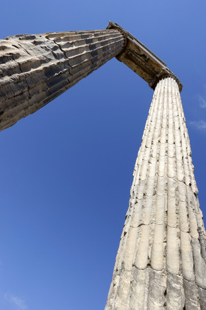 columnas romanas: View of Temple of Apollo in antique city of Didyma  Turkey