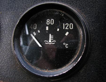 sensor: The temperature sensor in the old Russian truck Stock Photo