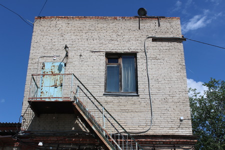 abandoned warehouse: Old abandoned warehouse in the Russian city