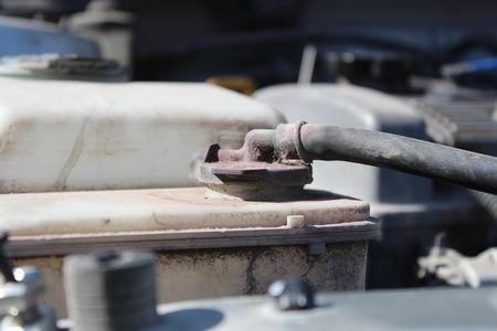 coolant: Dirty reservoir cap engine coolant car