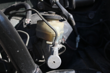 master: Brake master cylinder in the car