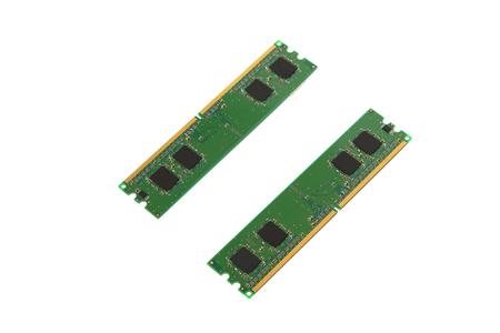 gigabytes: The RAM on a white background