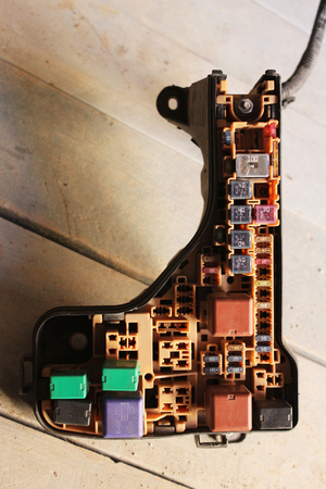 removed: Fuse box removed from car