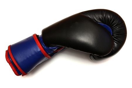 dangling: Boxing glove on a white background