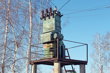powerhouse: Old small transformer in the village