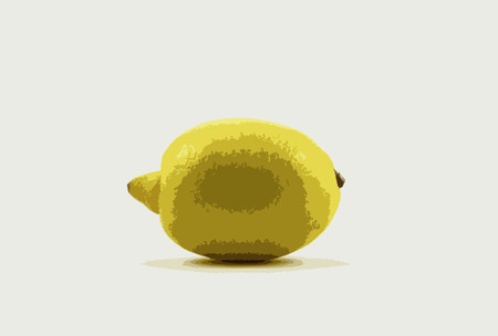 pictured: Pictured yellow lemon on white background Stock Photo