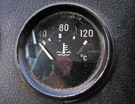 sensor: The temperature sensor in the old truck Stock Photo