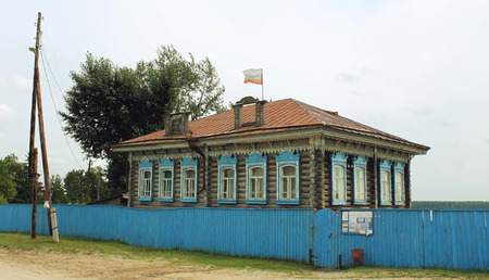 Old Russian house in the old village in the summer