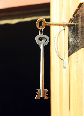 lock and key: The old key in the lock