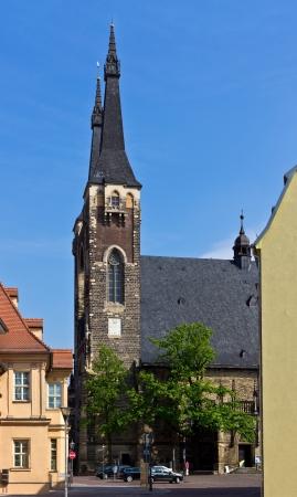 then: Church in Cöthen Stock Photo