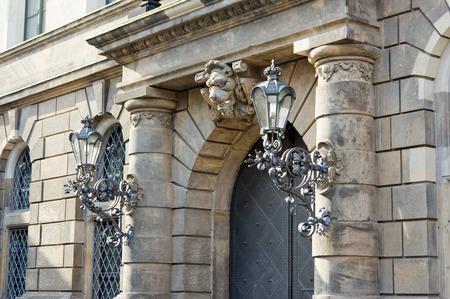 facade of the castle in dresden