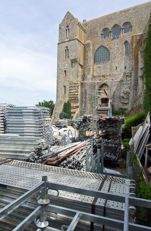 st michel: reconstruction mont-saint-michel in france