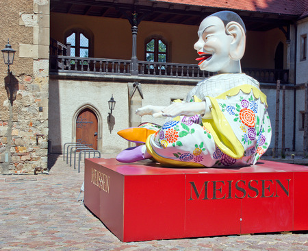 larger than life: pagod before the Albrechtsburg in meissen, germany Editorial