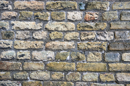 clinker: detail of an old stone wall
