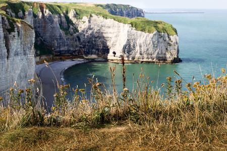 coast near etretat in france photo