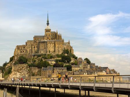 st michel: Mt St Michel in france Editorial