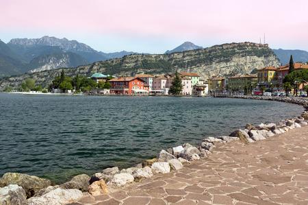 giardia: lake garda in the north of italy